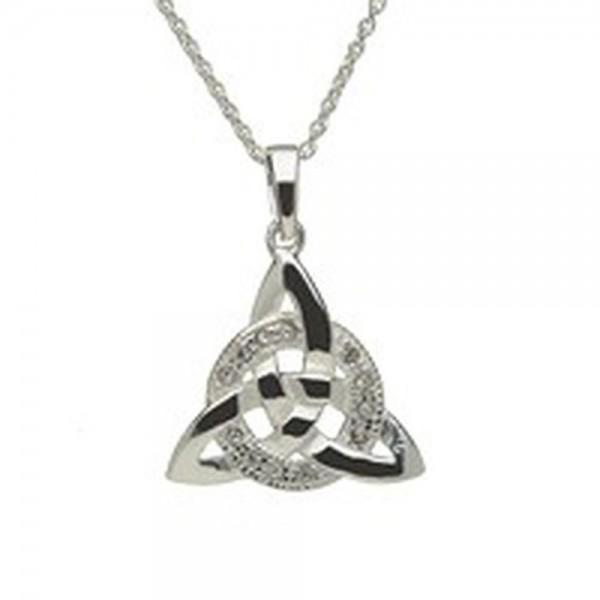 Irische Kette Trinity Knot Silber 925