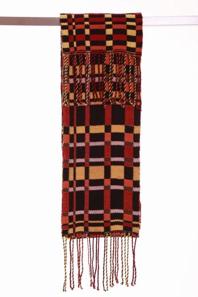 Handgewebter Schal Autumn Wolle