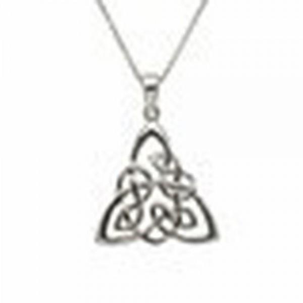 Keltischer Anhänger mit geflochtenen Trinity Knot