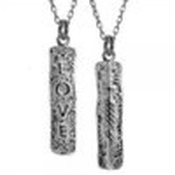 Irische Kette Silber 925 mit Ogham Inschrift Liebe