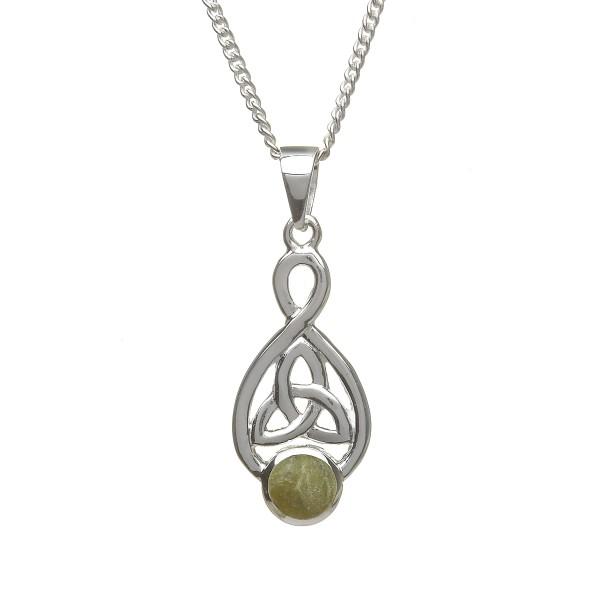 Anhänger Silber Trinity Knot mit Marmor Verzierung
