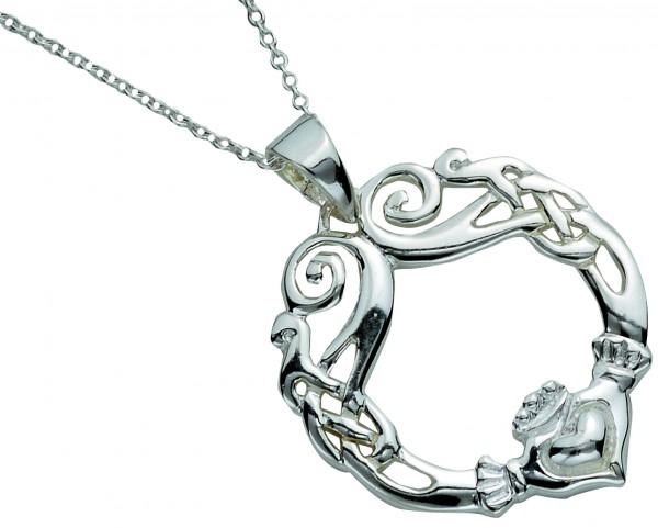 Irischer Claddagh Anhänger Silber 925