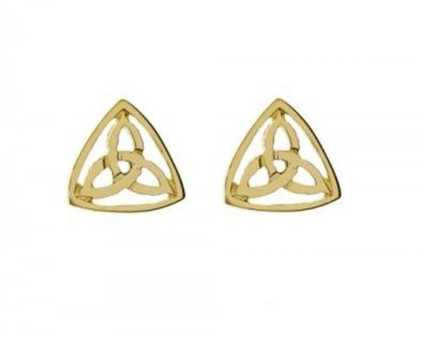 Keltische Ohrstecker  Trinity Knot 10 Karat Gelbgold