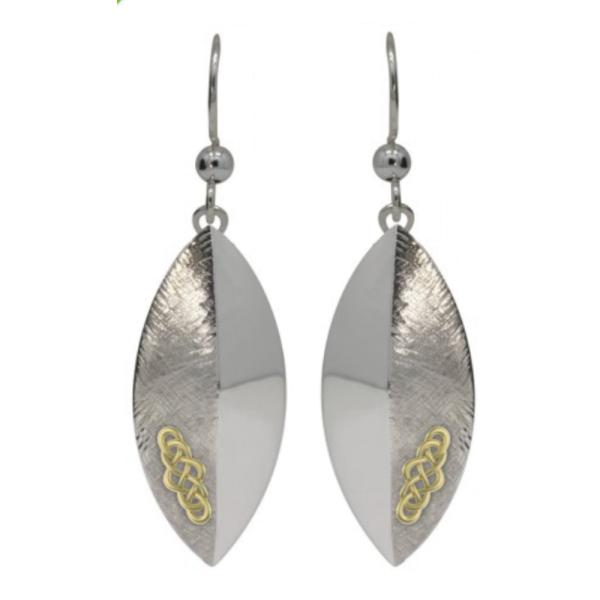 Irischer Schmuck Keltische Ohrringe Keltische Wellen Layer in Sterling Silber