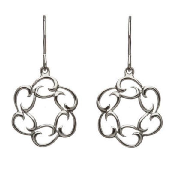 Irische Ohrringe Tropfen aus Silber 925