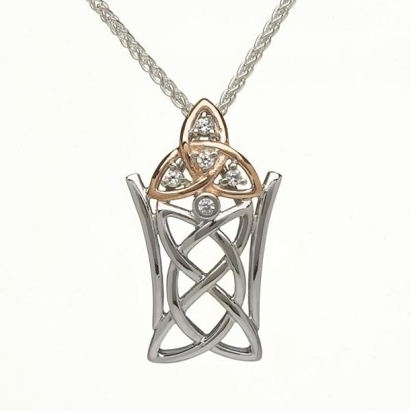 Irische Kette Silber Trinity Knot