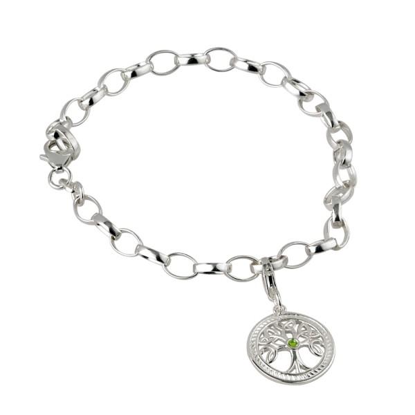 Silber 925 Keltisches Armband Baum des Lebens aus der Failte Kollektion.