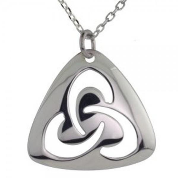 Kette keltischer Knoten mit offenem Trinity Knot