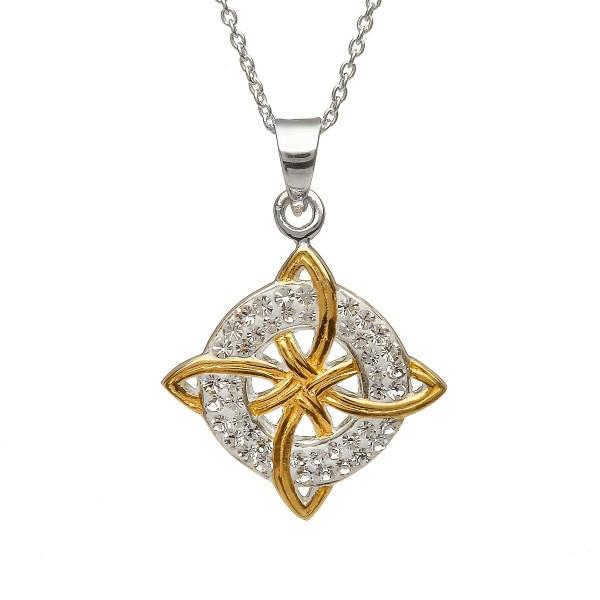 ltischer Anhänger Trinity aus Silber 925 vergoldet