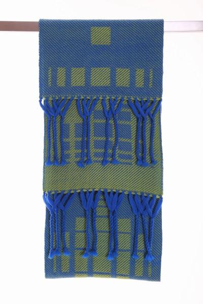 Handgewebter Schal Opposite Wolle