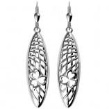 Silber Ohrringe Kleeblatt aus Irland