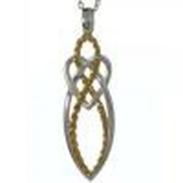 Anhänger keltischer Knoten aus Silber