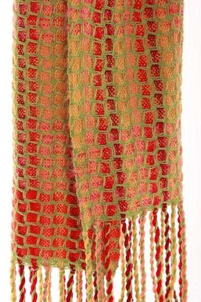 Handgewebter Schal MOSAIC aus Mohair und Wolle