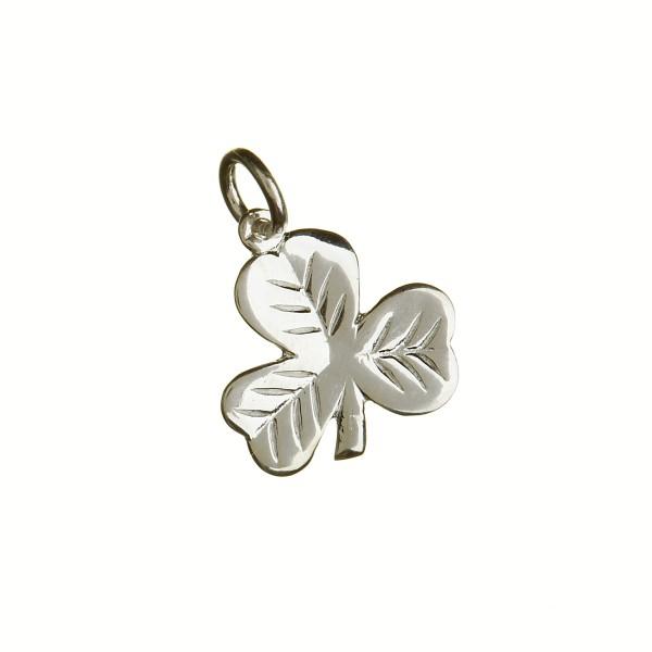 Irische Kette Kleeblatt Silber
