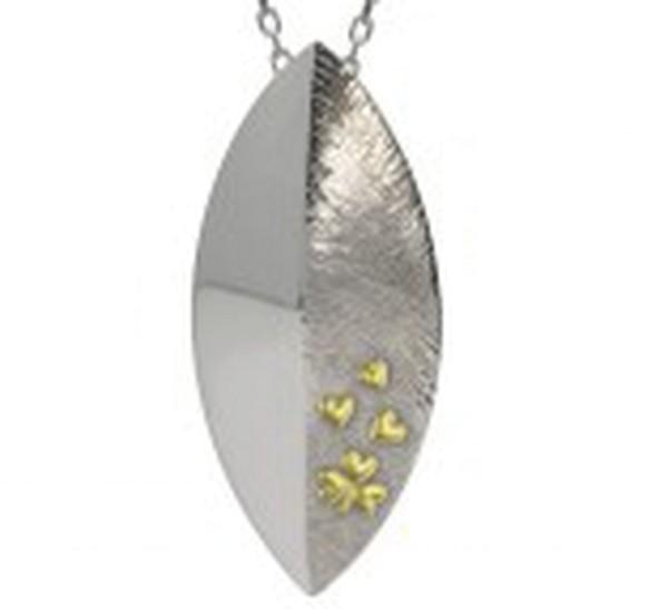 Irischer Schmuck Keltischer Anhänger Kleeblatt Schild Layer in Sterling Silber