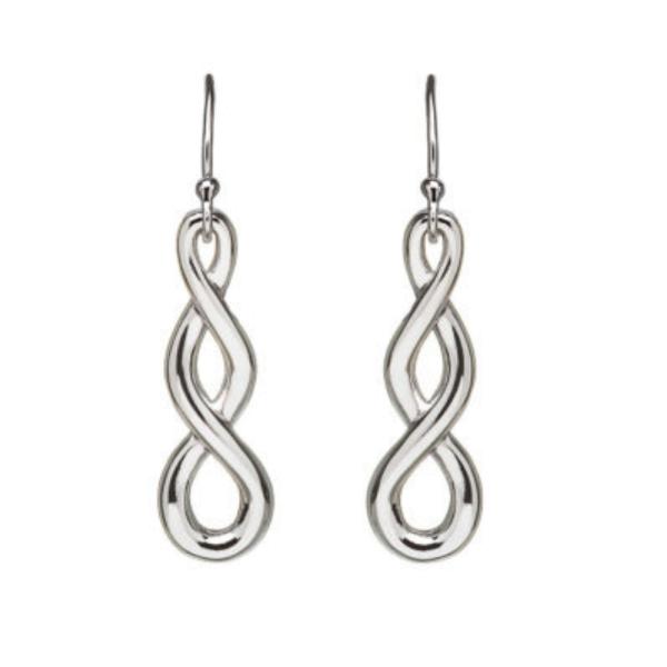 Keltische Ohrringe Tropfen Silber 925