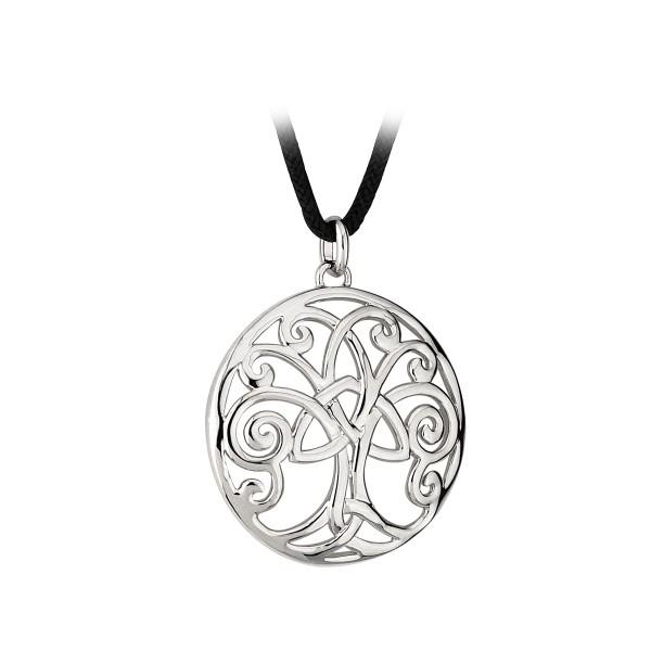 Anhänger Baum des Lebens mit Band rhodiniert Tara Kollektion.