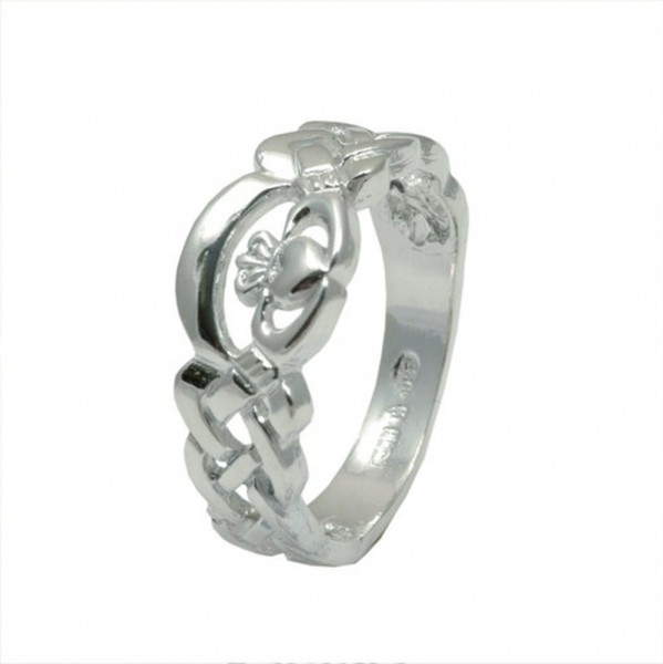 Irischer Damen Claddagh Ring Nua Kollektion Silber