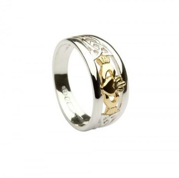 Claddagh Ring Silber und Gold