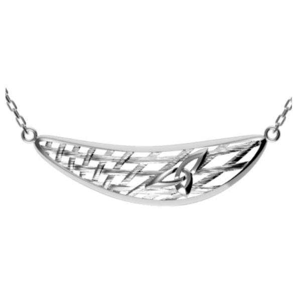 Irische Kette Korbgeflecht aus Silber 925