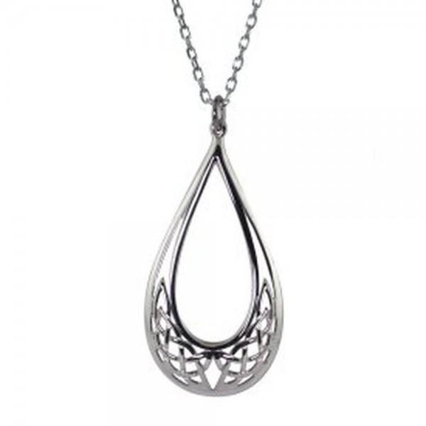 Keltischer Anhänger Tropfen Silber 925