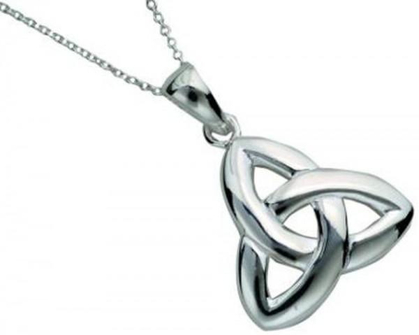 Irischer Schmuck Anhänger Silber 925 Trinity Knot