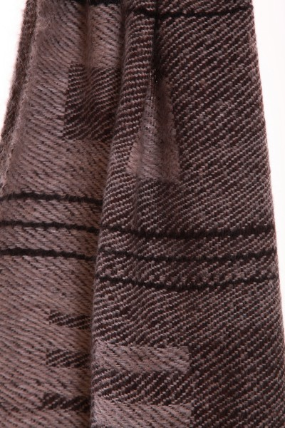 Two Tones handgewebter Schal aus Mohair