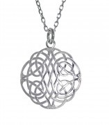 Irischer Anhänger keltischer Knoten Silber