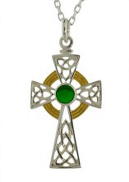Keltisches Kreuz Silber mit Achat