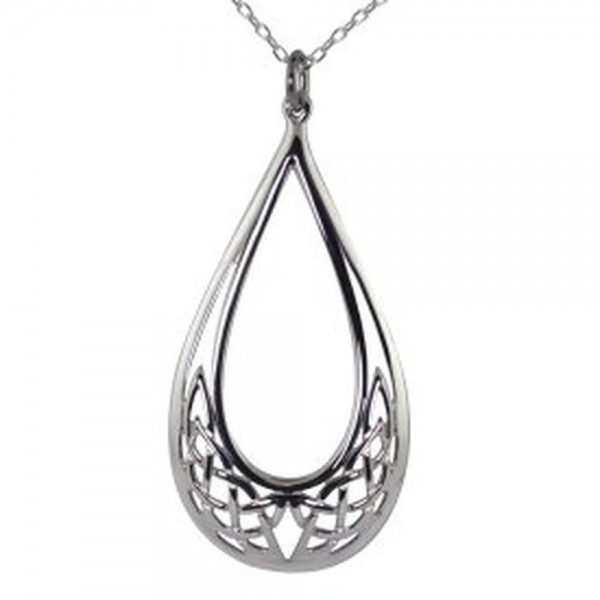 Kette keltischer Knoten Tränen Silber 925