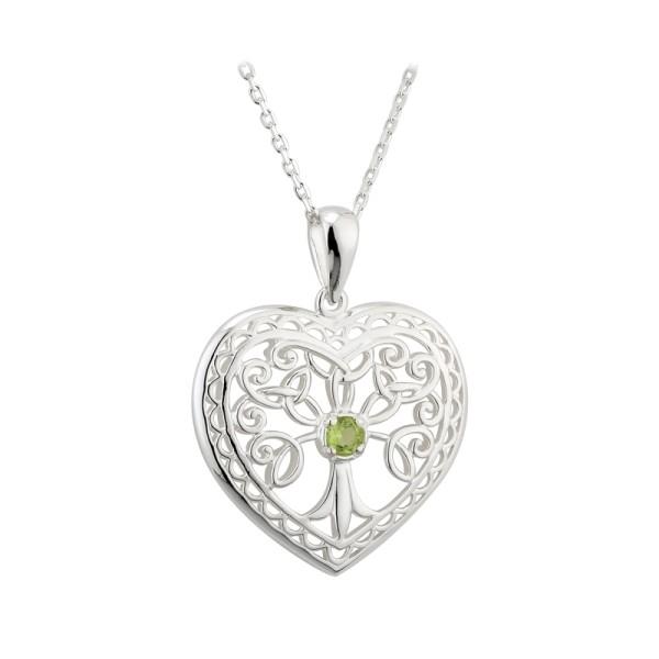 Irische Kette Silber Baum des Lebens