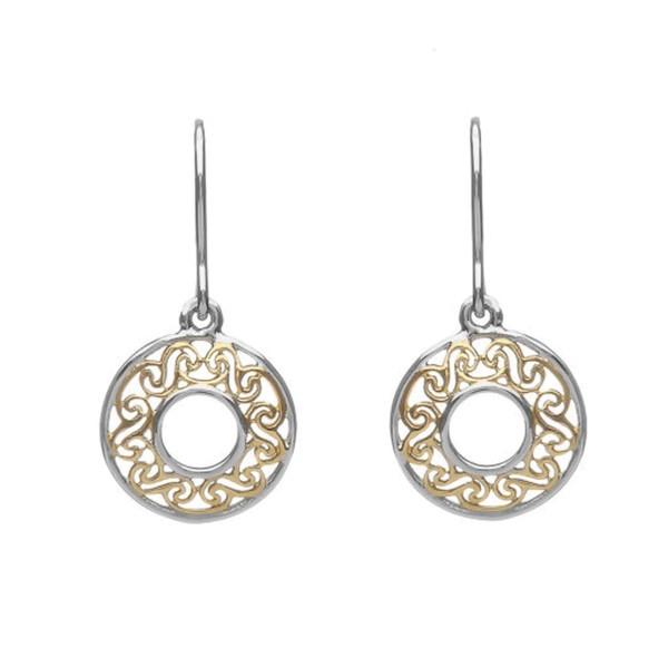 925 Silber Ohrringe Keltische Spirale