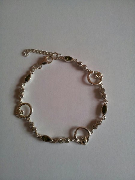 Keltisches Armband Claddagh Silber 925