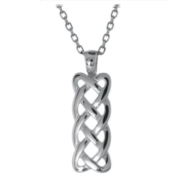 Irische Kette keltischer Knoten Silber und Gold