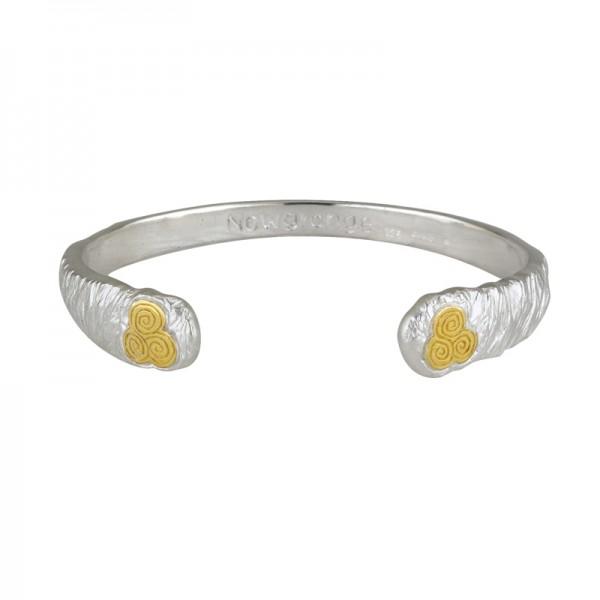 Silber 925 und Gold Keltisches Armband Newgrange