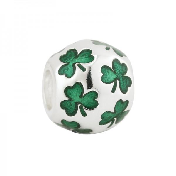 Celtic Bead irisches Kleeblatt Silber