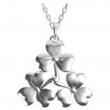 Keltische Kette Kleeblatt aus Silber 925
