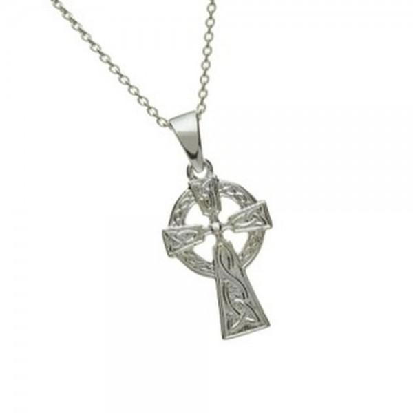 Doppelseitiges keltisches Kreuz klein Silber 925