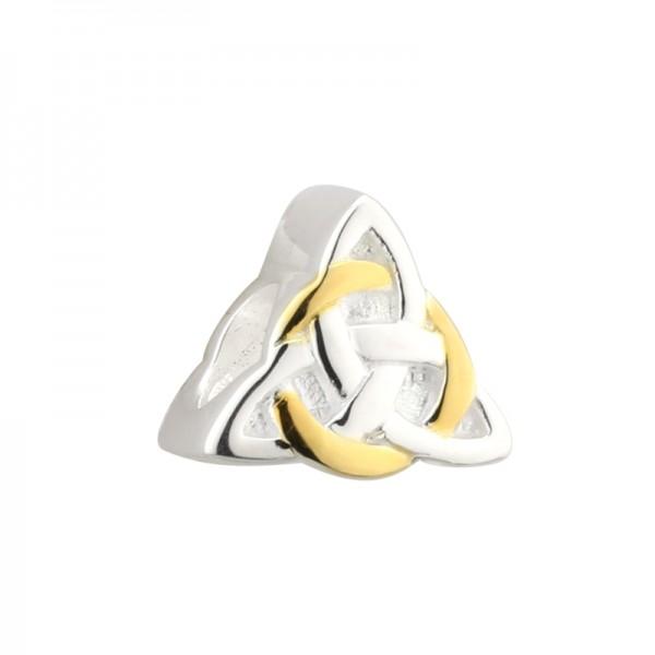Celtic Bead Keltischer Knoten Silber vergoldet