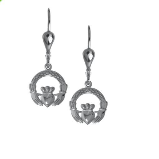 Irische Claddagh Ohrringe Silber 925
