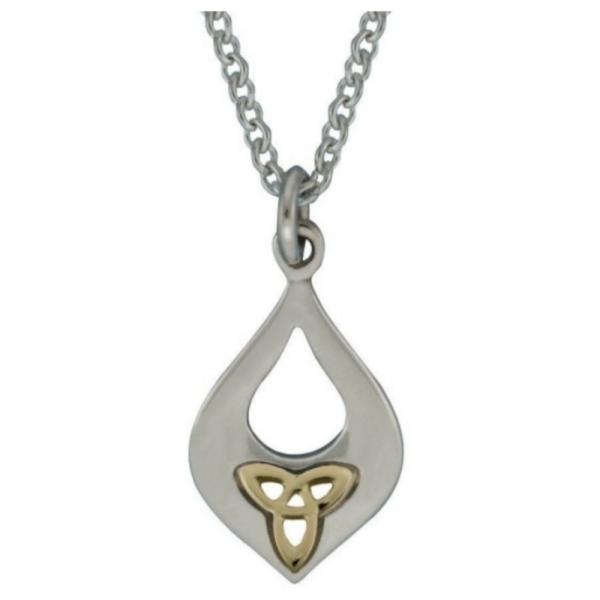 Irischer Anhänger Trinity Knot Silber/Gold