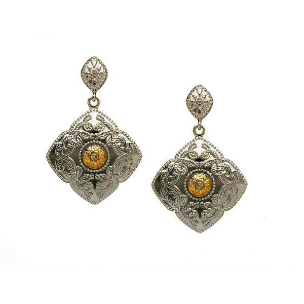 Ohrringe Celtic Warrior Silber und 18 Karat Gold