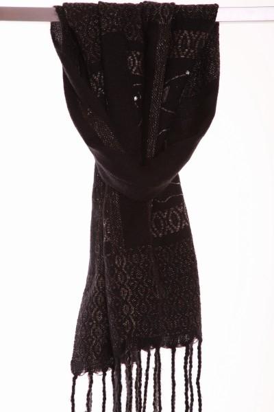 Handgewebter Schal QUEENLY aus Mohair Wolle. Limitierte Auflage