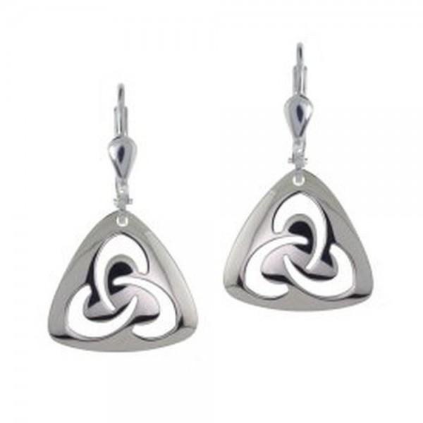 Ohrringe keltischer Knoten mit offenem Trinity Knot