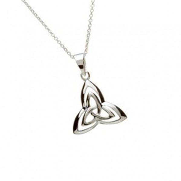 Keltische Kette Trinity Knot Silber mit Zirkon