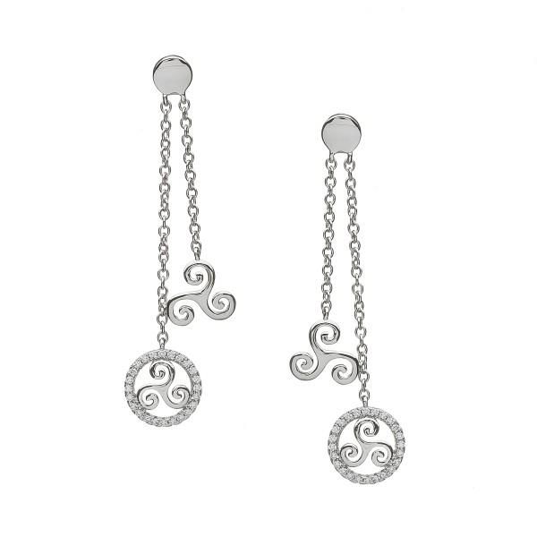 Silber 925 Triskele Ohrringe