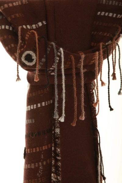 Chocolate handgewebter Schal aus Alpaka
