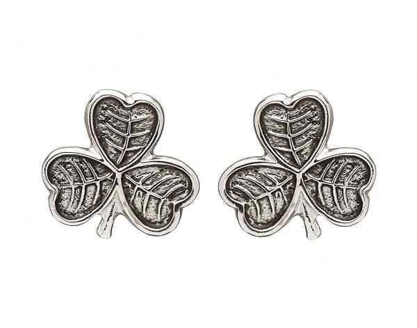 Keltisches Kleeblatt Ohrringe Silber