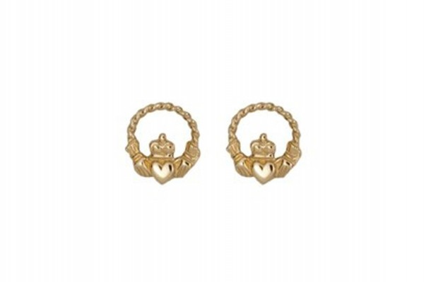 Keltische Ohrringe Claddagh 10 ct. Gold 416