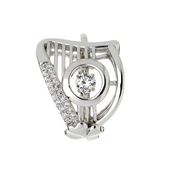 Keltischer Ring Harfe Silber 925